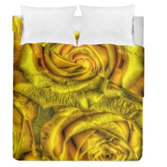 Gorgeous Roses, Yellow  Duvet Cover (Full/Queen Size)