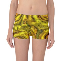 Gorgeous Roses, Yellow  Reversible Boyleg Bikini Bottoms