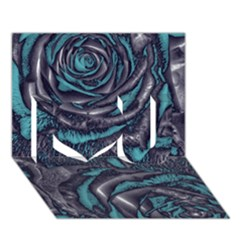 Gorgeous Roses, Aqua I Love You 3d Greeting Card (7x5)