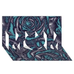 Gorgeous Roses, Aqua Mom 3d Greeting Card (8x4)