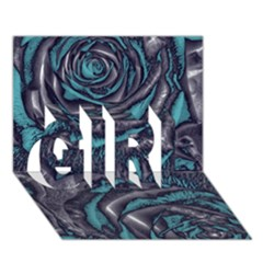 Gorgeous Roses, Aqua GIRL 3D Greeting Card (7x5)