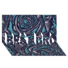 Gorgeous Roses, Aqua BEST BRO 3D Greeting Card (8x4)