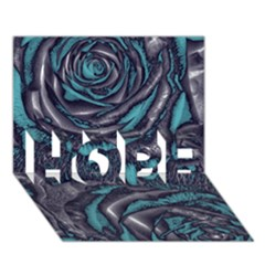 Gorgeous Roses, Aqua HOPE 3D Greeting Card (7x5)
