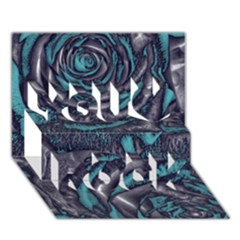 Gorgeous Roses, Aqua You Rock 3D Greeting Card (7x5)