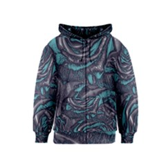 Gorgeous Roses, Aqua Kids Zipper Hoodies
