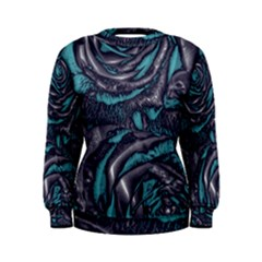 Gorgeous Roses, Aqua Women s Sweatshirts
