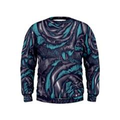 Gorgeous Roses, Aqua Boys  Sweatshirts