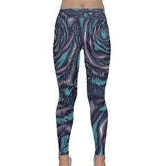 Gorgeous Roses, Aqua Yoga Leggings