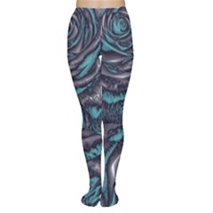 Gorgeous Roses, Aqua Women s Tights