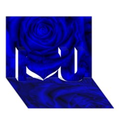 Gorgeous Roses,deep Blue I Love You 3D Greeting Card (7x5)