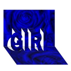Gorgeous Roses,deep Blue Girl 3d Greeting Card (7x5)