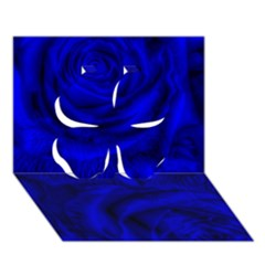 Gorgeous Roses,deep Blue Clover 3d Greeting Card (7x5)
