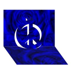 Gorgeous Roses,deep Blue Peace Sign 3d Greeting Card (7x5)
