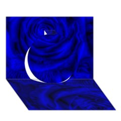 Gorgeous Roses,deep Blue Circle 3D Greeting Card (7x5)