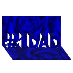 Gorgeous Roses,deep Blue #1 DAD 3D Greeting Card (8x4)