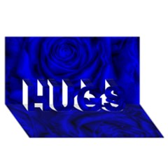 Gorgeous Roses,deep Blue Hugs 3d Greeting Card (8x4)