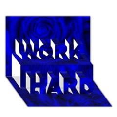 Gorgeous Roses,deep Blue Work Hard 3d Greeting Card (7x5)