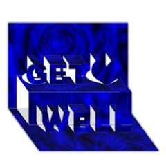 Gorgeous Roses,deep Blue Get Well 3D Greeting Card (7x5)
