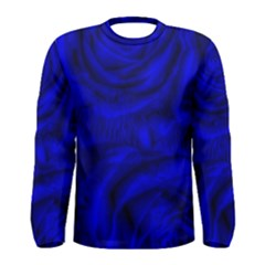 Gorgeous Roses,deep Blue Men s Long Sleeve T Shirts