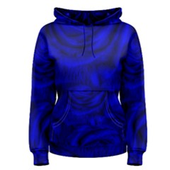 Gorgeous Roses,deep Blue Women s Pullover Hoodies