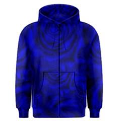 Gorgeous Roses,deep Blue Men s Zipper Hoodies