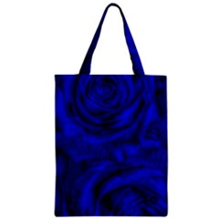 Gorgeous Roses,deep Blue Zipper Classic Tote Bags