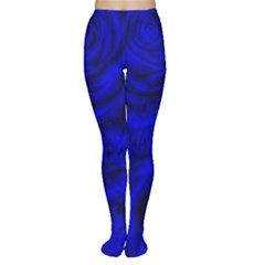 Gorgeous Roses,deep Blue Women s Tights