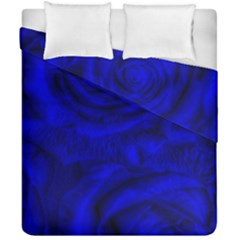 Gorgeous Roses,deep Blue Duvet Cover (Double Size)