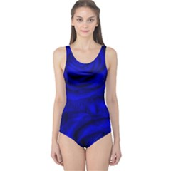 Gorgeous Roses,deep Blue Women s One Piece Swimsuits