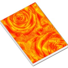 Gorgeous Roses, Orange Large Memo Pads