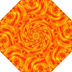 Gorgeous Roses, Orange Hook Handle Umbrellas (Medium)
