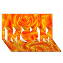 Gorgeous Roses, Orange MOM 3D Greeting Card (8x4)