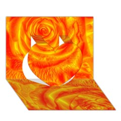 Gorgeous Roses, Orange Heart 3D Greeting Card (7x5)