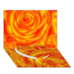 Gorgeous Roses, Orange Heart Bottom 3d Greeting Card (7x5)