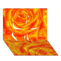 Gorgeous Roses, Orange Clover 3D Greeting Card (7x5)