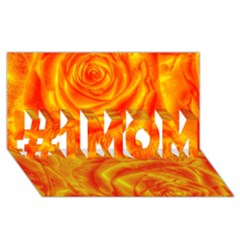 Gorgeous Roses, Orange #1 MOM 3D Greeting Cards (8x4)
