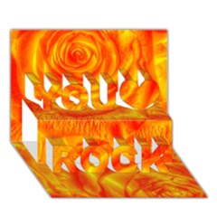 Gorgeous Roses, Orange You Rock 3d Greeting Card (7x5)
