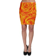 Gorgeous Roses, Orange Bodycon Skirts
