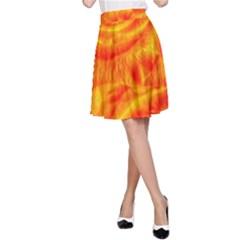 Gorgeous Roses, Orange A-Line Skirts