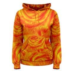 Gorgeous Roses, Orange Women s Pullover Hoodies