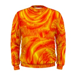 Gorgeous Roses, Orange Men s Sweatshirts