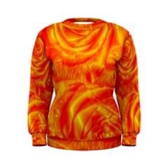Gorgeous Roses, Orange Women s Sweatshirts