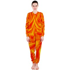 Gorgeous Roses, Orange Onepiece Jumpsuit (ladies)