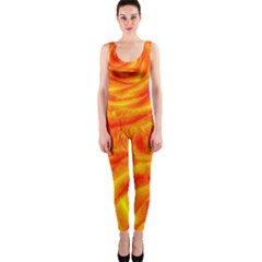 Gorgeous Roses, Orange OnePiece Catsuits