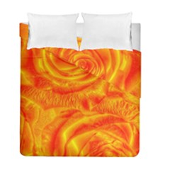 Gorgeous Roses, Orange Duvet Cover (Twin Size)