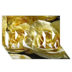 Yellow Roses MOM 3D Greeting Card (8x4)