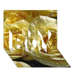Yellow Roses BOY 3D Greeting Card (7x5)