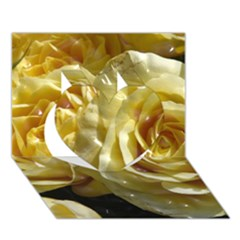 Yellow Roses Heart 3D Greeting Card (7x5)