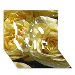 Yellow Roses LOVE 3D Greeting Card (7x5)