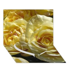 Yellow Roses Heart Bottom 3d Greeting Card (7x5)